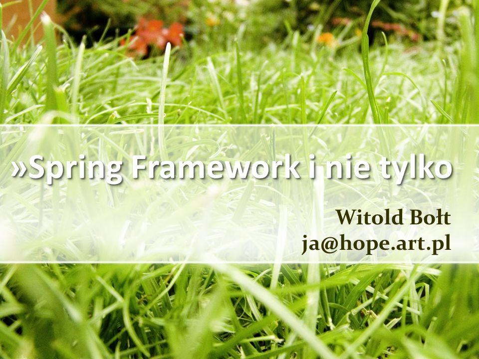 »Spring Framework i nie tylko