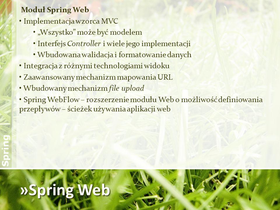 »Spring Web Moduł Spring Web Implementacja wzorca MVC