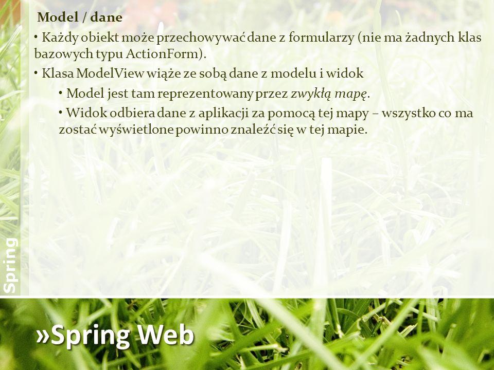 »Spring Web Model / dane