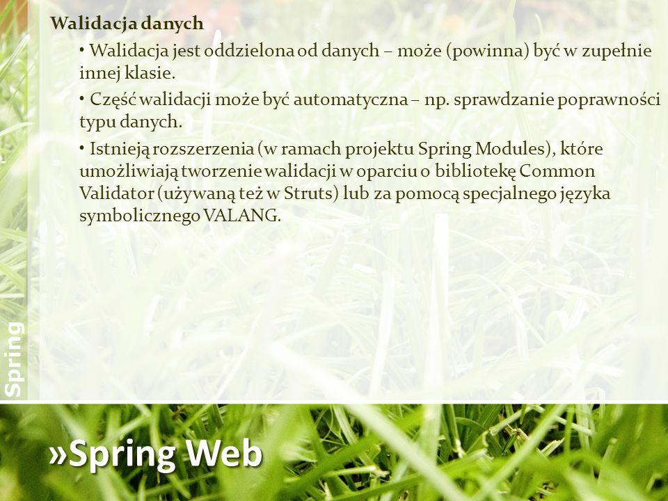 »Spring Web Walidacja danych