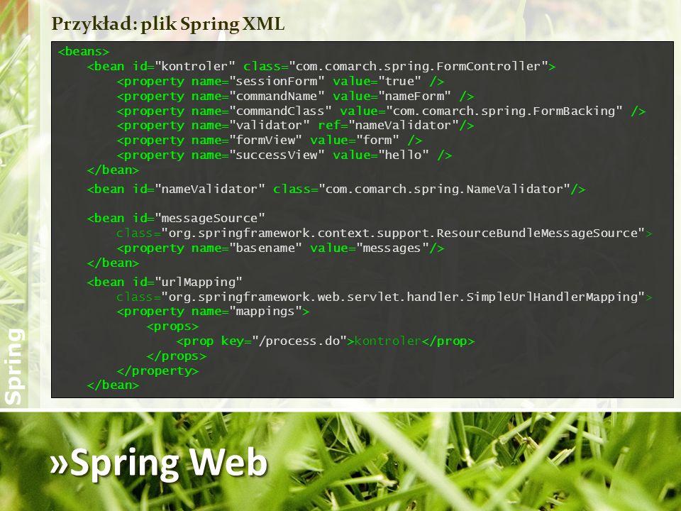 »Spring Web Przykład: plik Spring XML <beans>