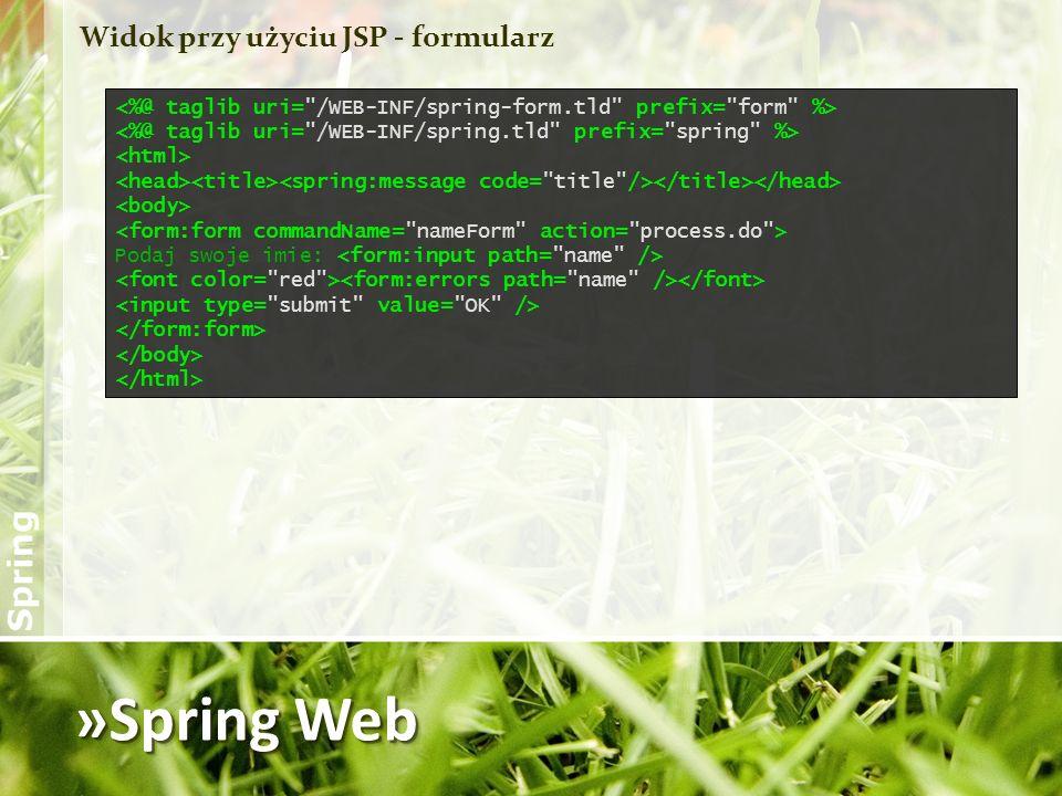 »Spring Web Widok przy użyciu JSP - formularz