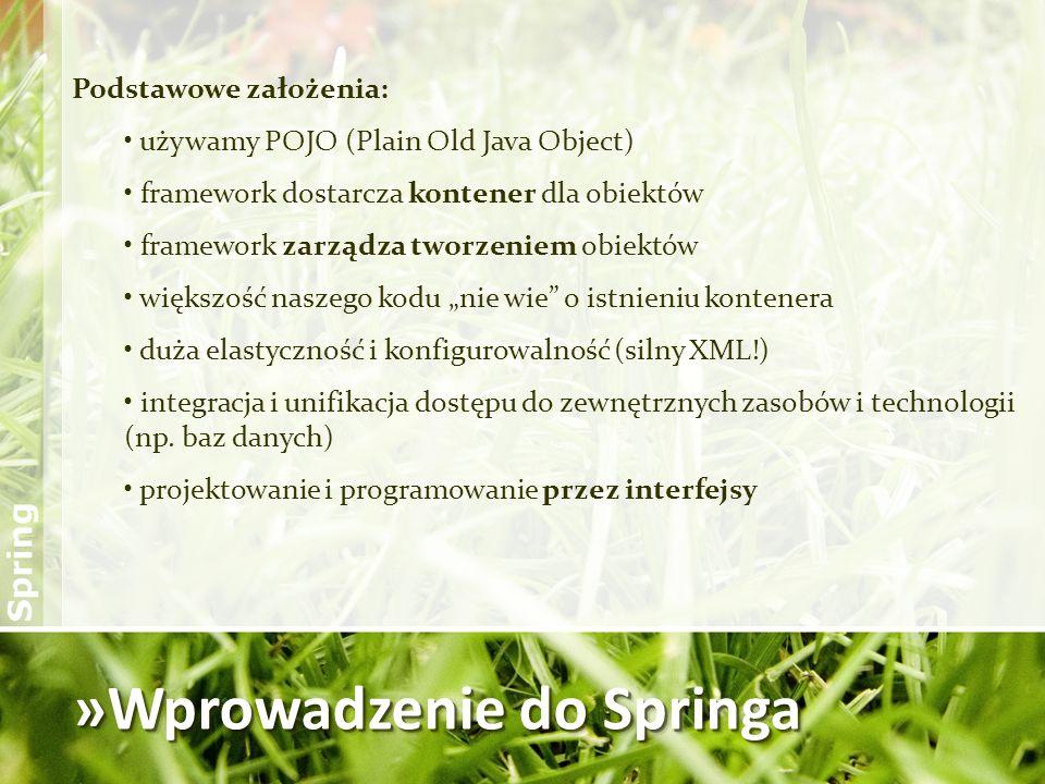 »Wprowadzenie do Springa