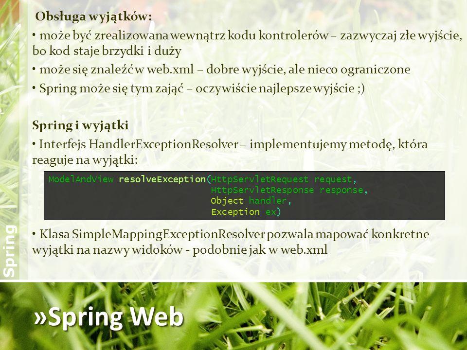 »Spring Web Obsługa wyjątków: