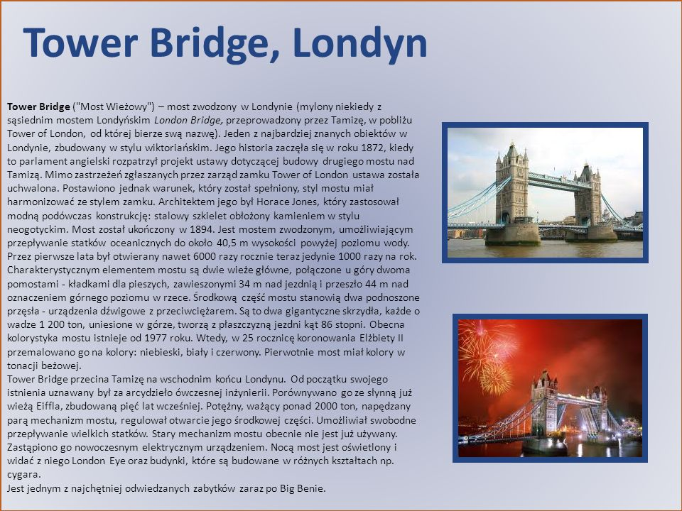 Tower Bridge, Londyn