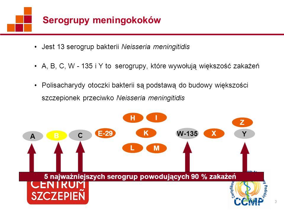 Serogrupy meningokoków