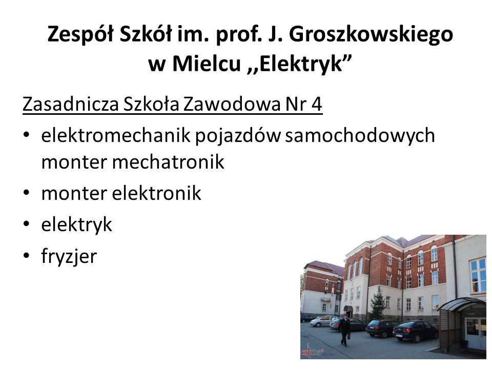 Zespół Szkół im. prof. J. Groszkowskiego w Mielcu ,,Elektryk