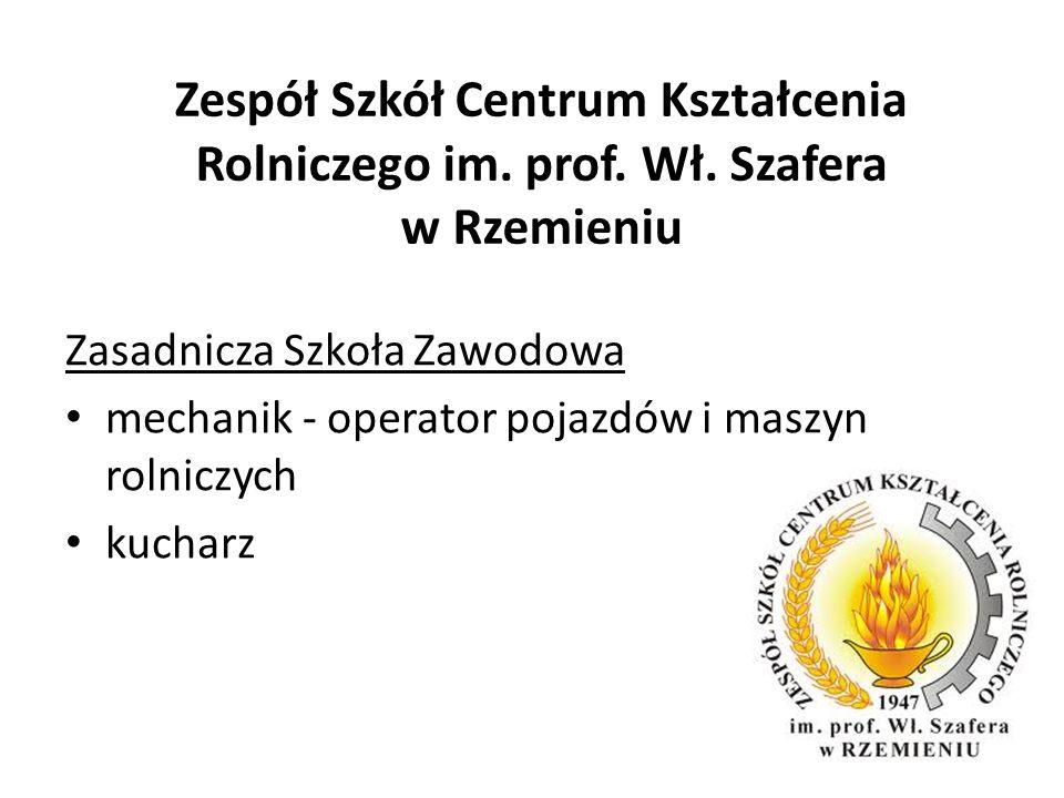 Zespół Szkół Centrum Kształcenia Rolniczego im. prof. Wł