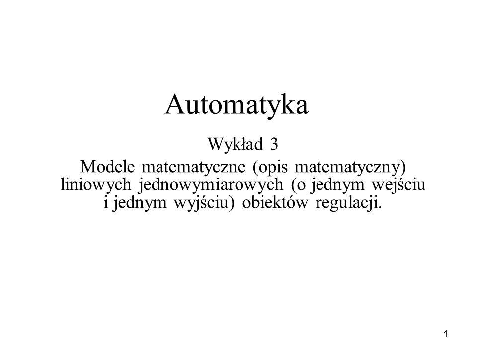 Automatyka Wykład 3.