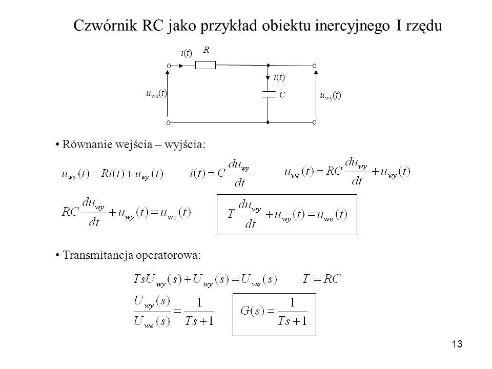 Czwórnik RC jako przykład obiektu inercyjnego I rzędu
