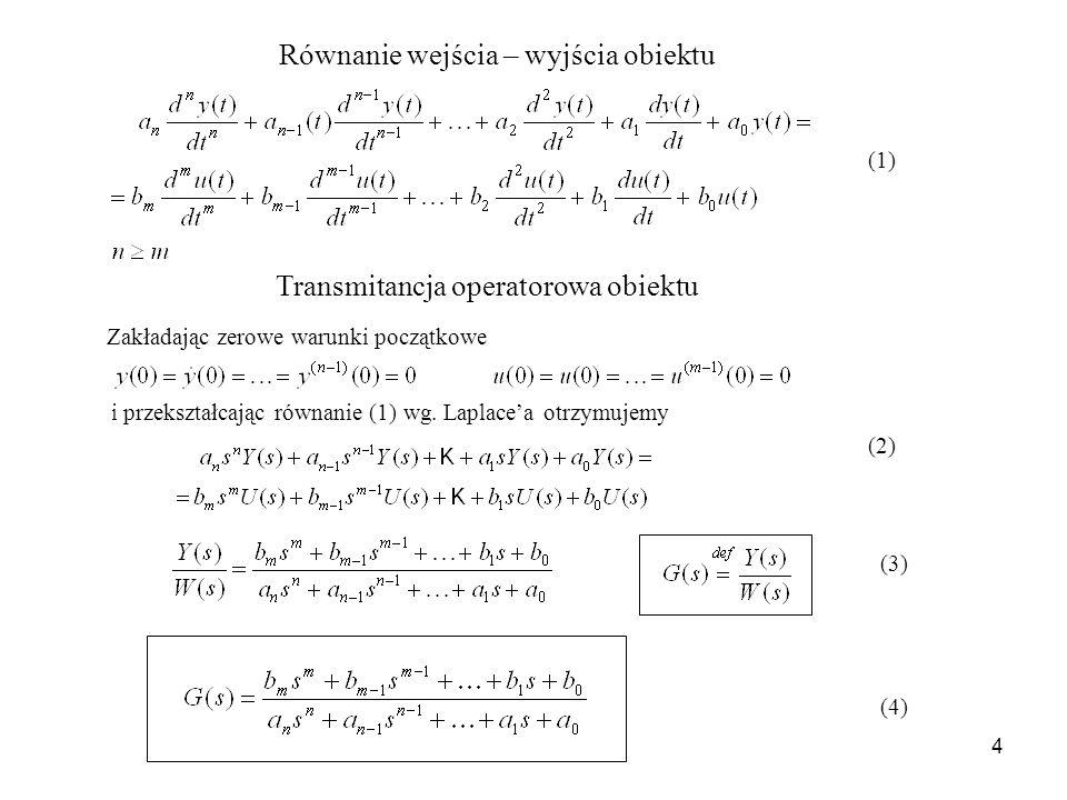 Równanie wejścia – wyjścia obiektu