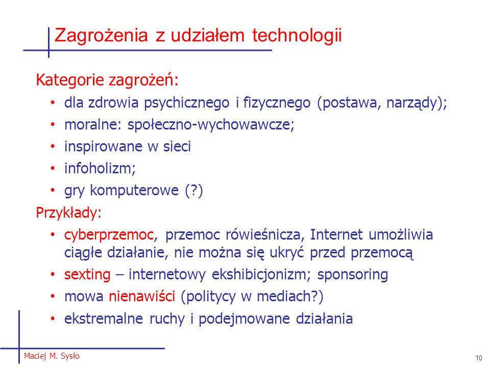 Zagrożenia z udziałem technologii