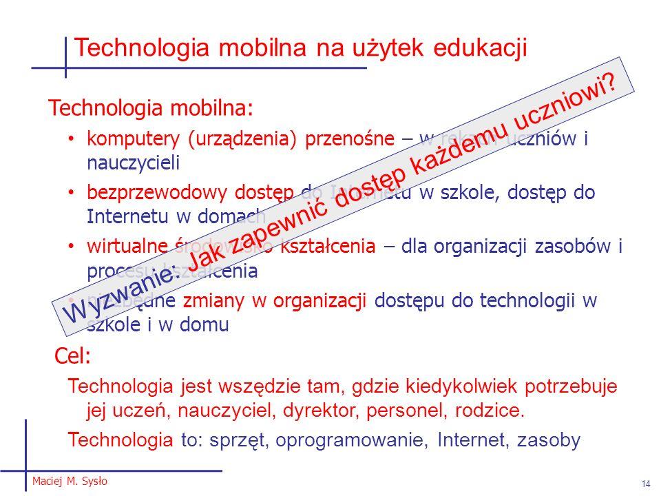Technologia mobilna na użytek edukacji