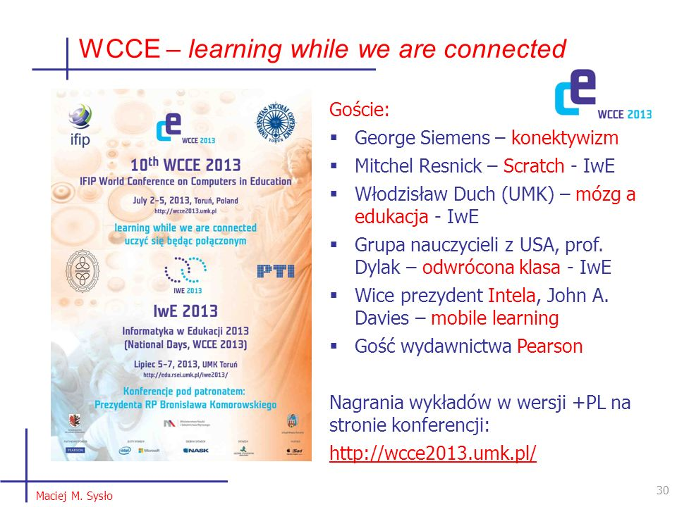WCCE – learning while we are connected