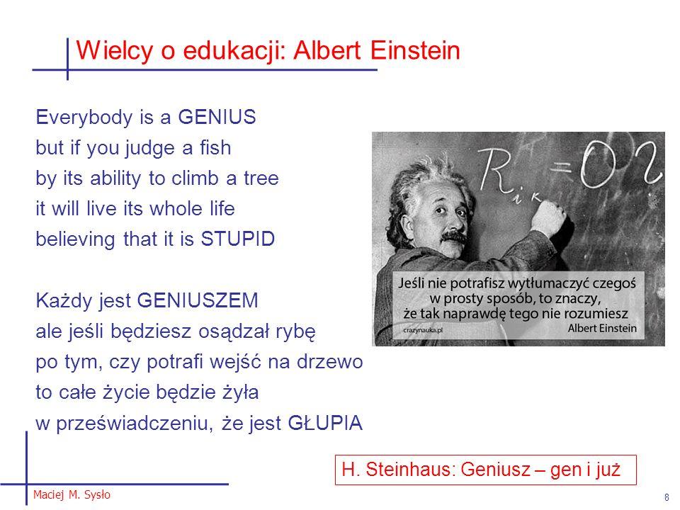 Wielcy o edukacji: Albert Einstein