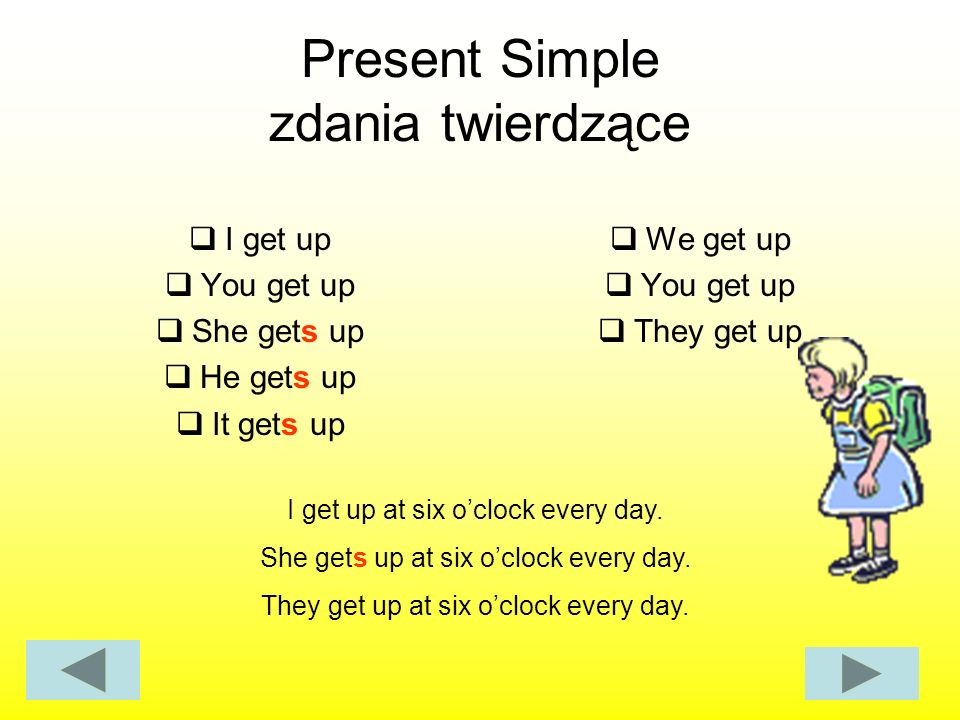 Present Simple zdania twierdzące