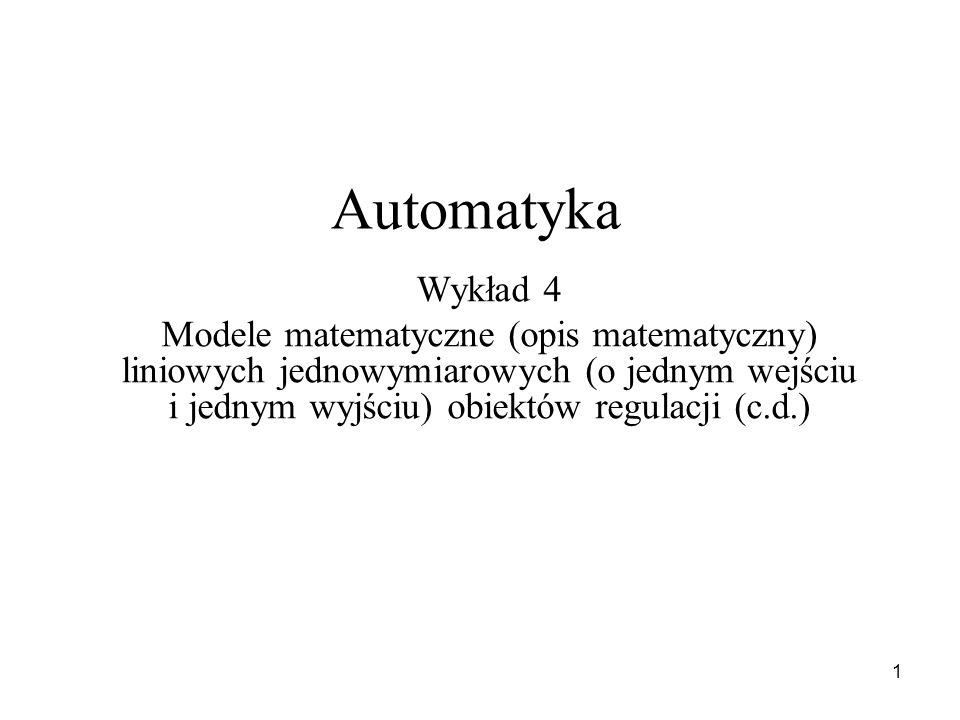 Automatyka Wykład 4.