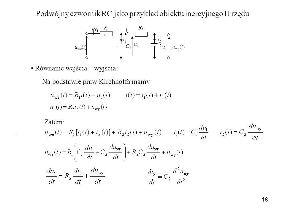 Podwójny czwórnik RC jako przykład obiektu inercyjnego II rzędu