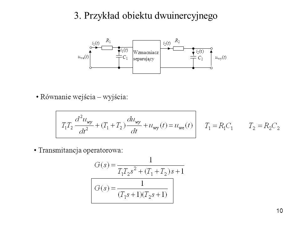 3. Przykład obiektu dwuinercyjnego