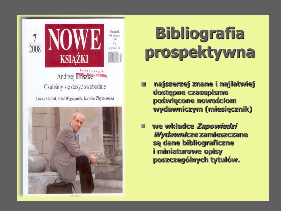 Bibliografia prospektywna