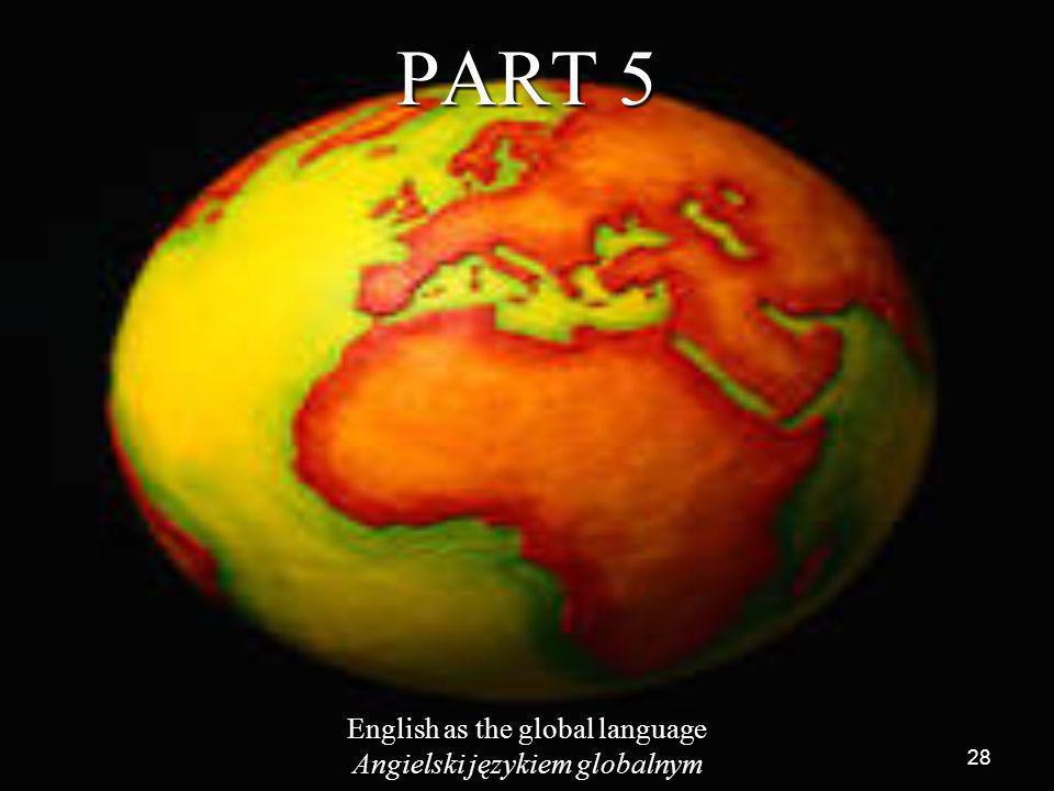 PART 5 English as the global language Angielski językiem globalnym