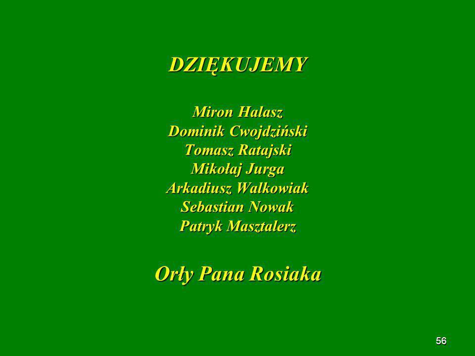 DZIĘKUJEMY Orły Pana Rosiaka