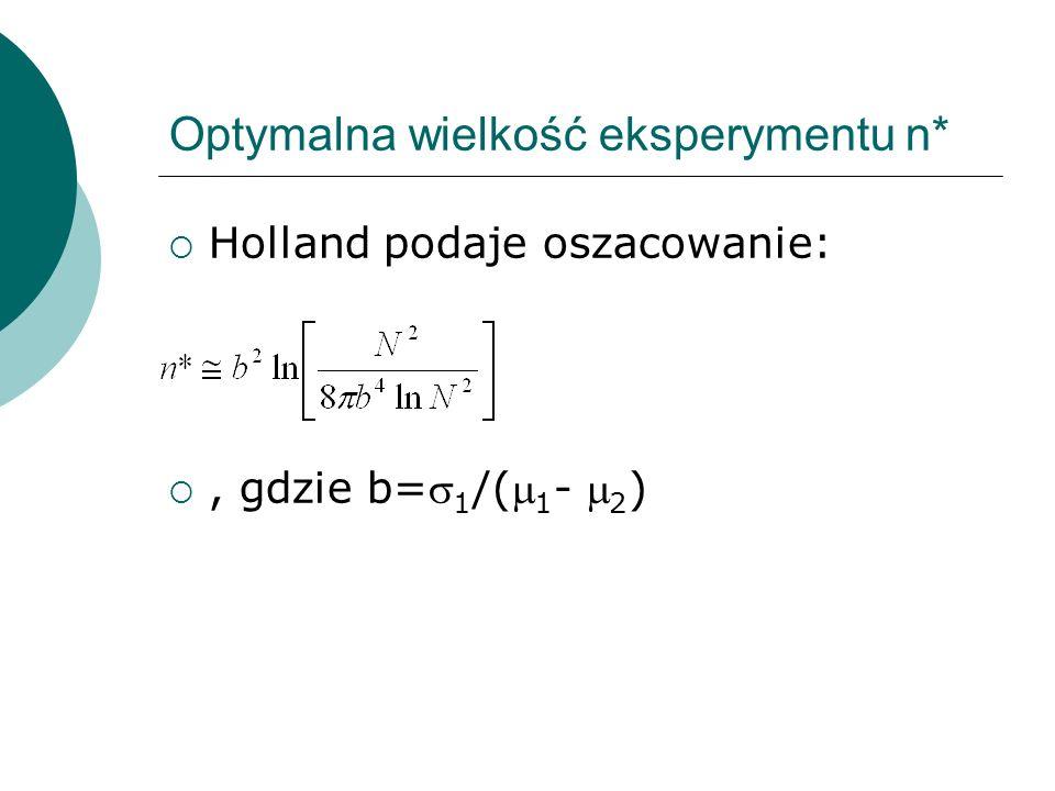 Optymalna wielkość eksperymentu n*