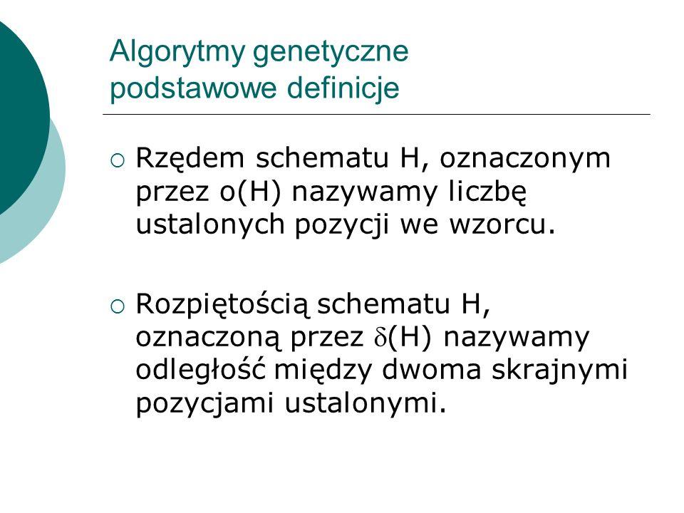 Algorytmy genetyczne podstawowe definicje