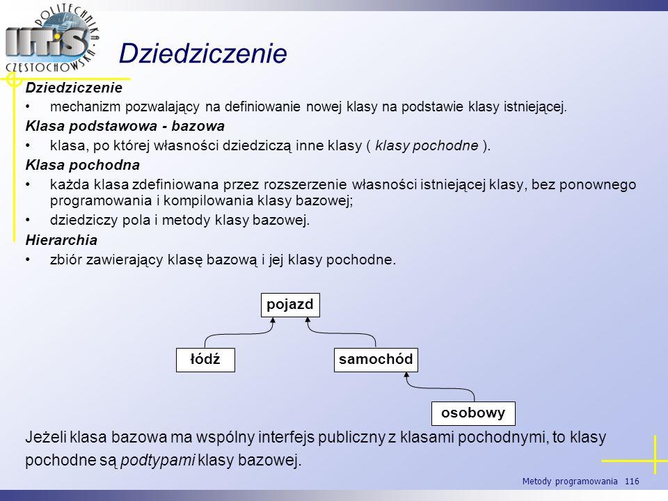 DziedziczenieDziedziczenie. mechanizm pozwalający na definiowanie nowej klasy na podstawie klasy istniejącej.
