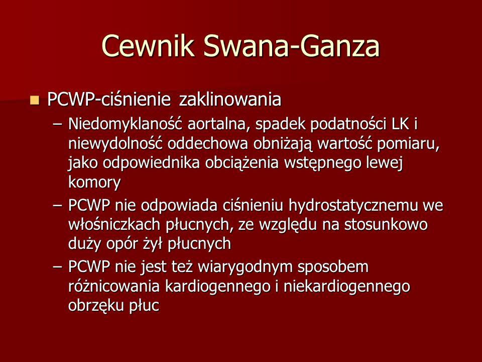 Cewnik Swana-Ganza PCWP-ciśnienie zaklinowania
