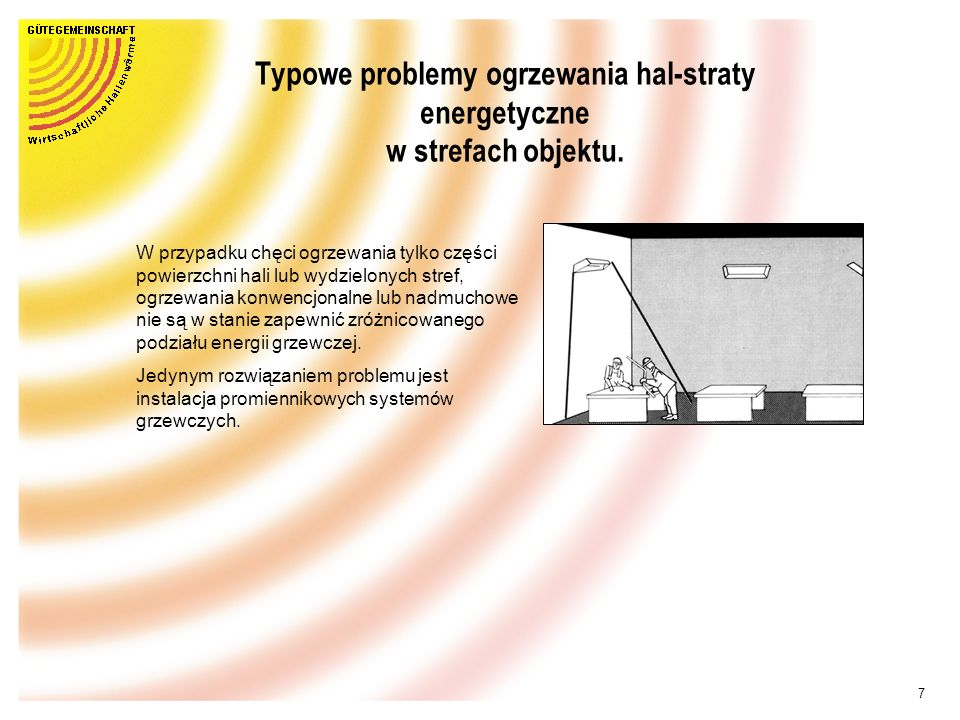Typowe problemy ogrzewania hal-straty energetyczne w strefach objektu.