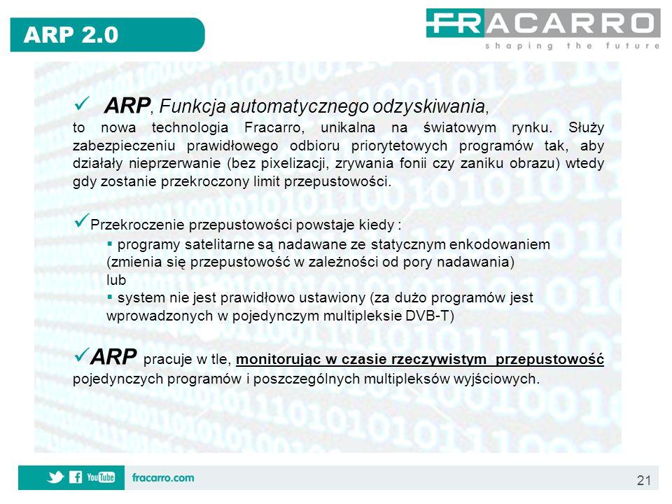 ARP, Funkcja automatycznego odzyskiwania,