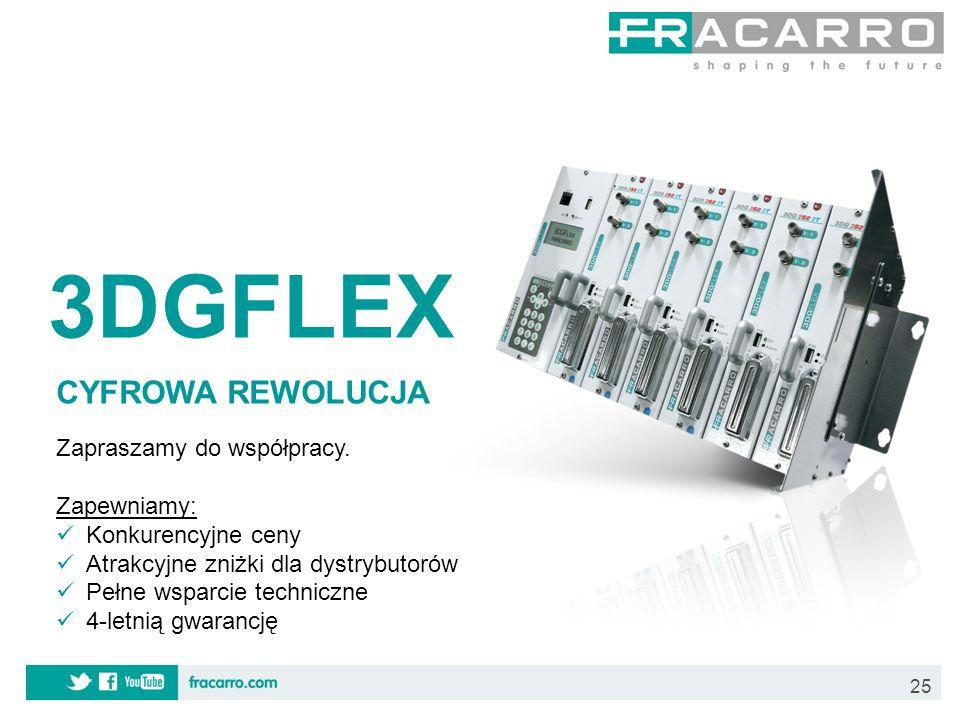 3DGFLEX CYFROWA REWOLUCJA Zapraszamy do współpracy. Zapewniamy: