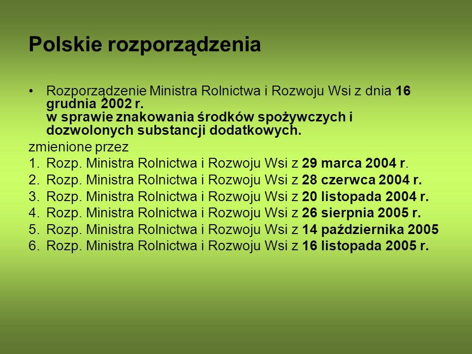 Polskie rozporządzenia