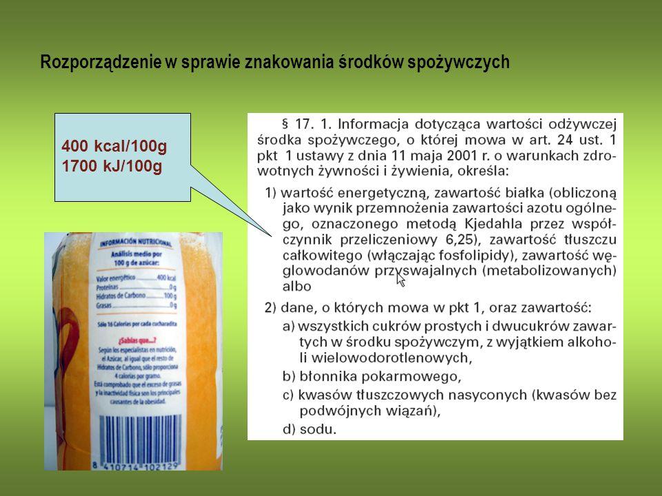 Rozporządzenie w sprawie znakowania środków spożywczych