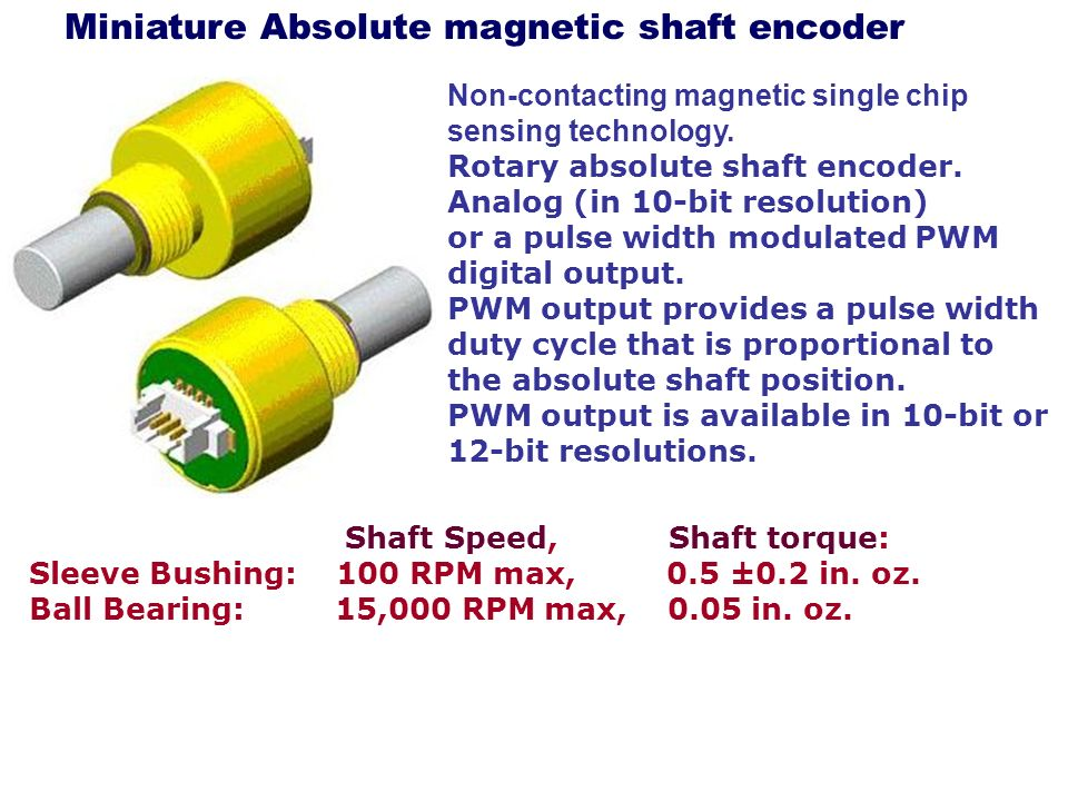 Miniature Absolute magnetic shaft encoder