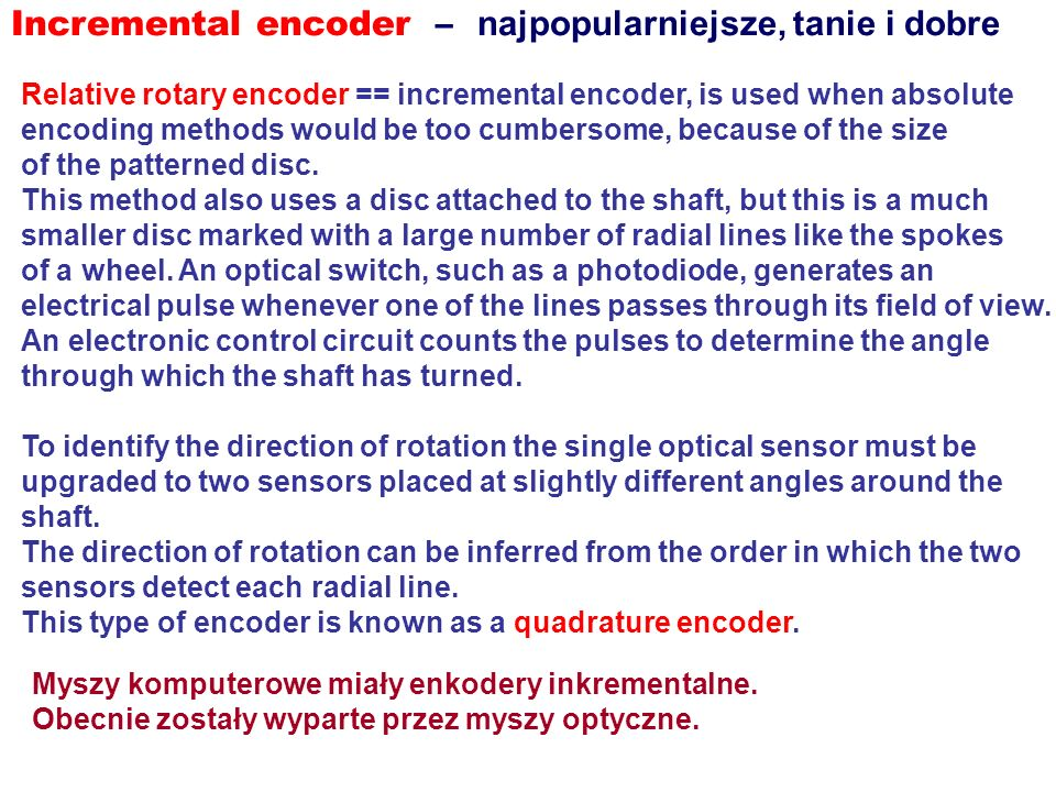 Incremental encoder – najpopularniejsze, tanie i dobre