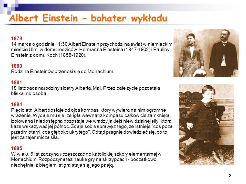 Albert Einstein – bohater wykładu