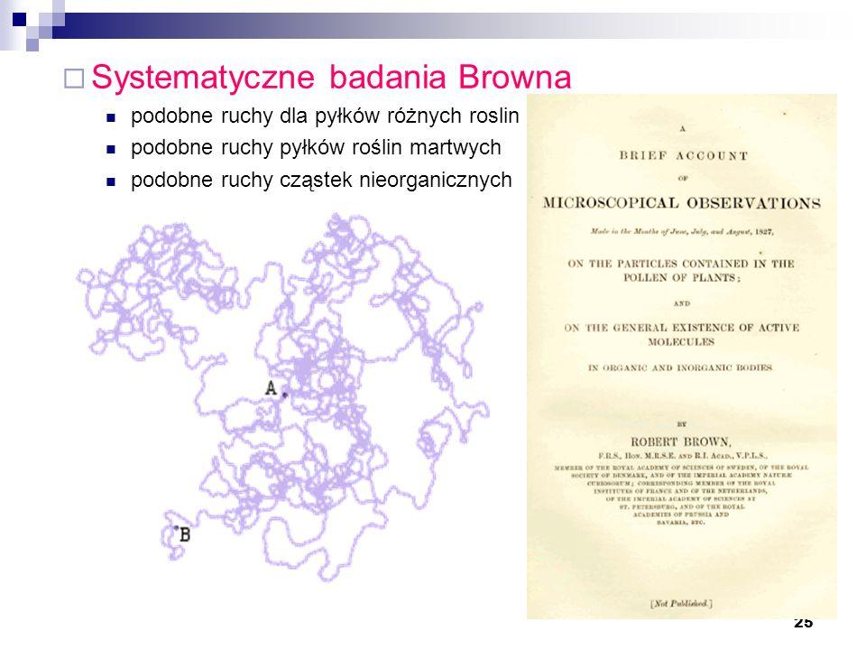 Systematyczne badania Browna