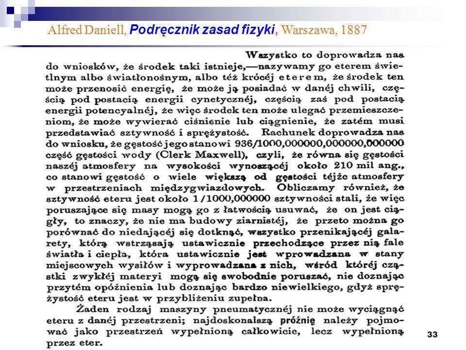 Alfred Daniell, Podręcznik zasad fizyki, Warszawa, 1887