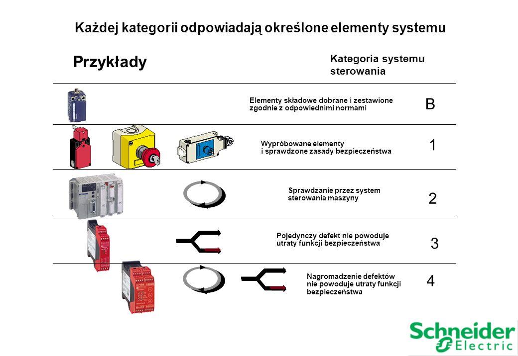 Każdej kategorii odpowiadają określone elementy systemu