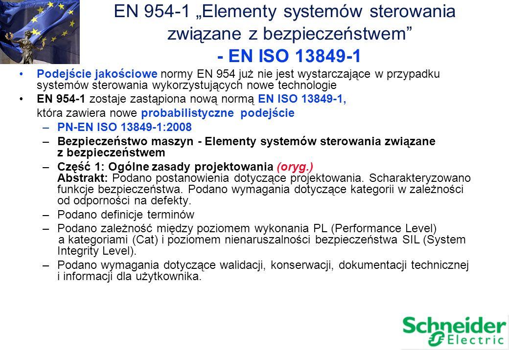 "EN 954-1 ""Elementy systemów sterowania"