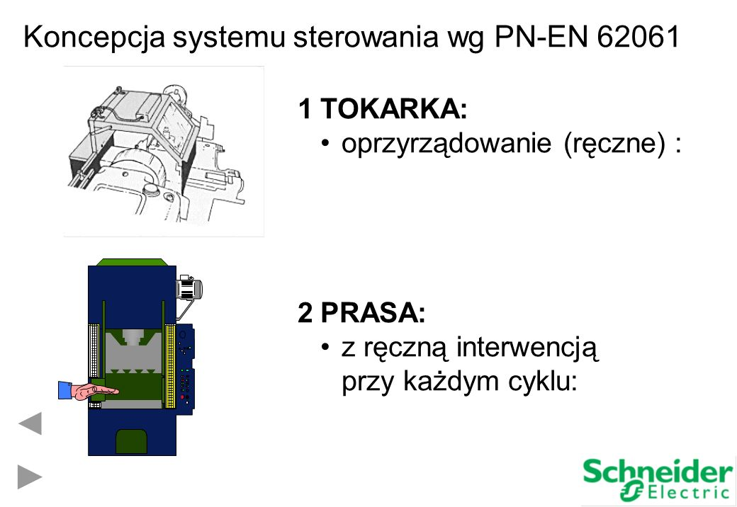 Koncepcja systemu sterowania wg PN-EN 62061