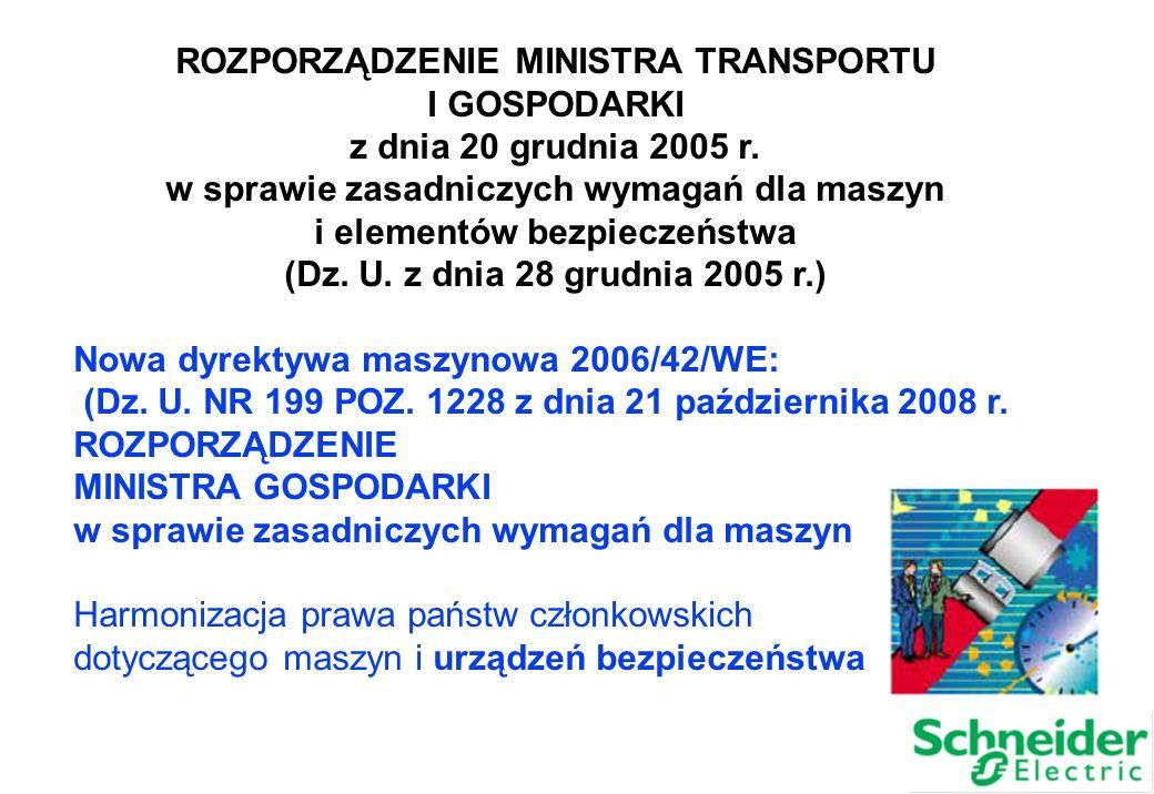 ROZPORZĄDZENIE MINISTRA TRANSPORTU I GOSPODARKI