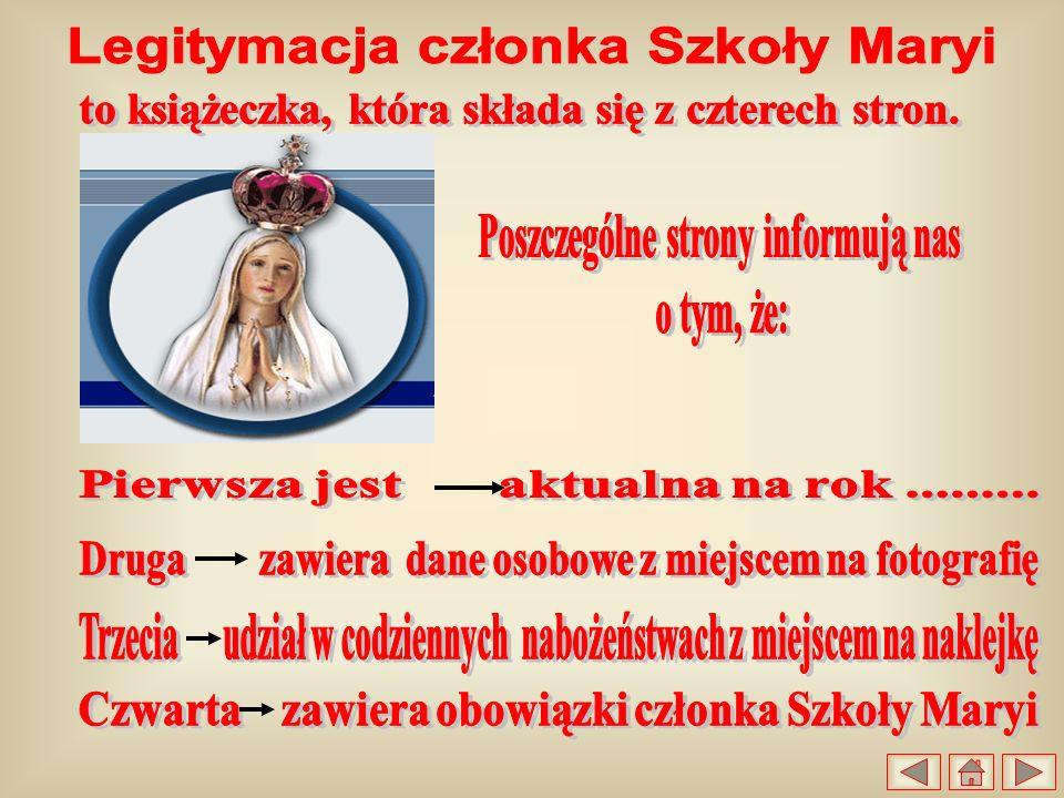 Legitymacja członka Szkoły Maryi