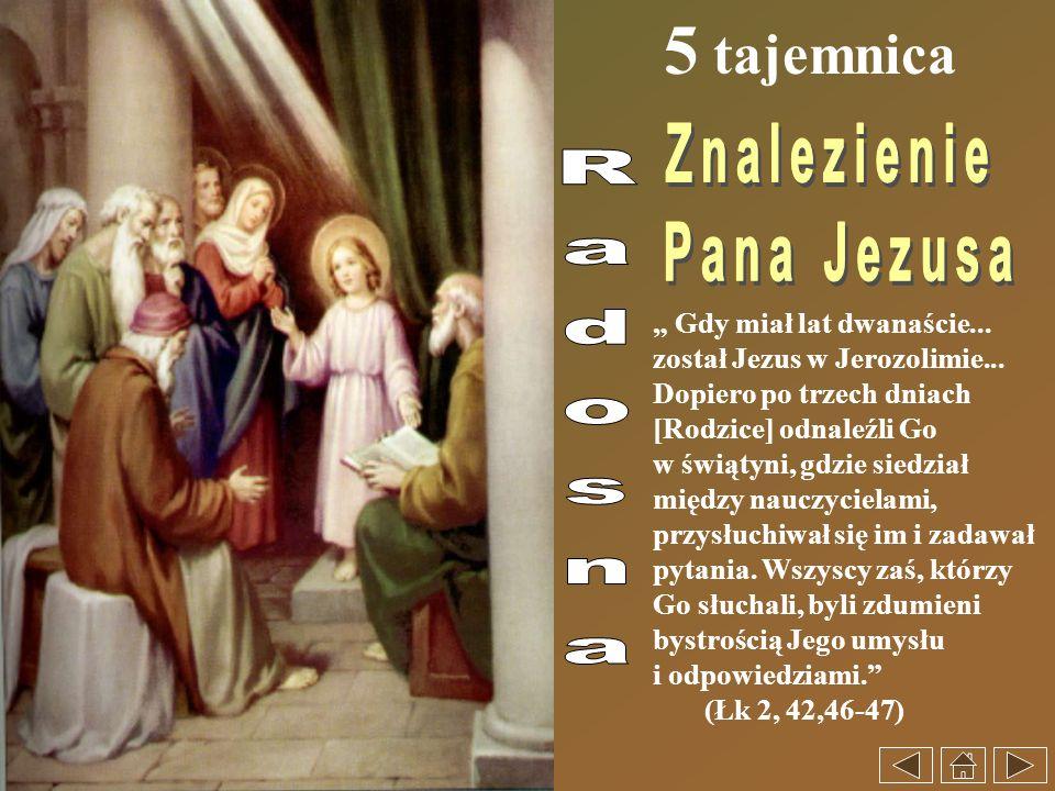 5 tajemnica Znalezienie Pana Jezusa Radosna
