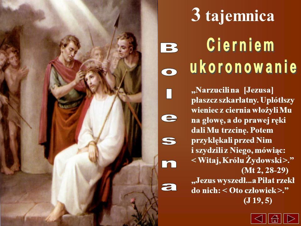 3 tajemnica Cierniem ukoronowanie Bolesna