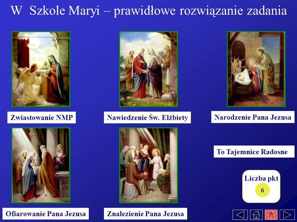 W Szkole Maryi – prawidłowe rozwiązanie zadania