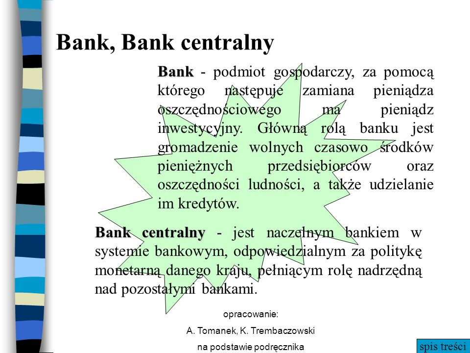 Bank, Bank centralny