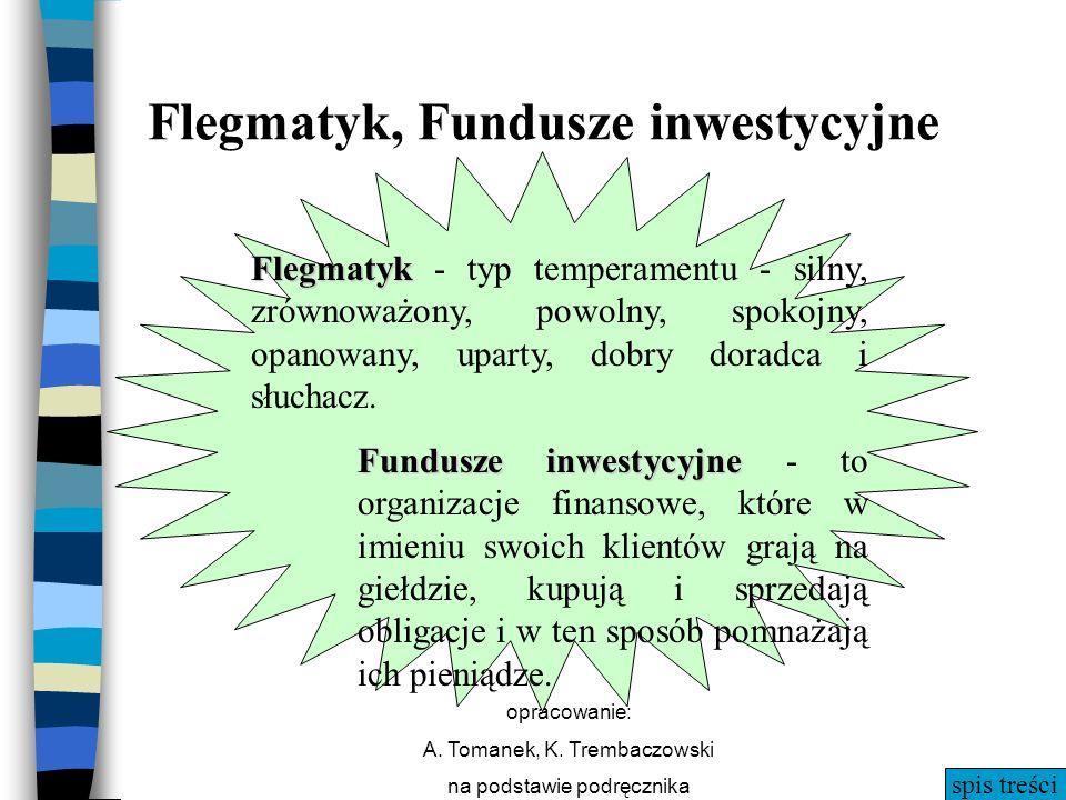 Flegmatyk, Fundusze inwestycyjne